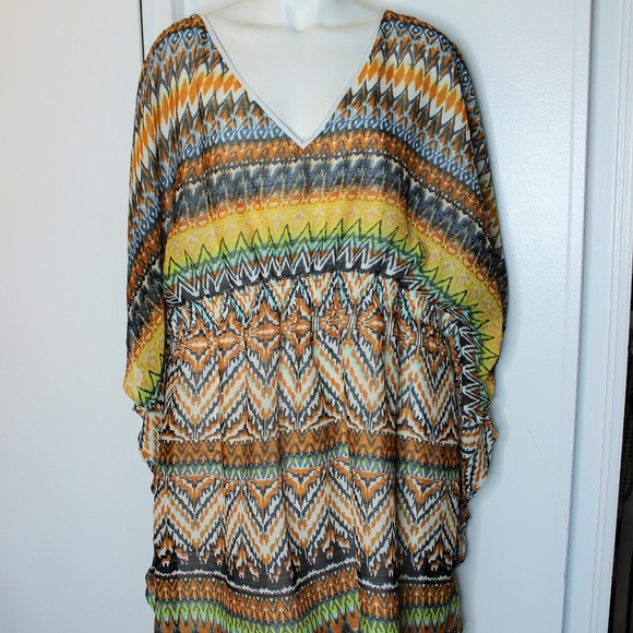 Speed Control Dresses & Skirts - Speed Control Tribal Muu Muu Dress Cover up 3X